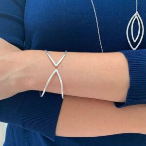Maria Bangle Bracelet Silver