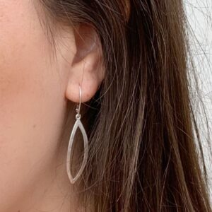 Maria L Hippies Earrings Silver Lady
