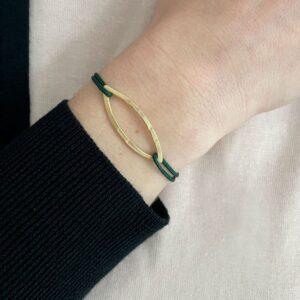 Maria L Nylon Bracelet Gold lady