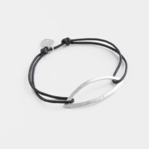 Maria L Nylon Bracelet Silver