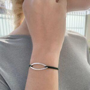 Maria L Nylon Bracelet Silver lady