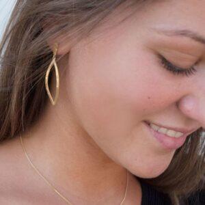 Maria L Pendant Earrings Gold Lady