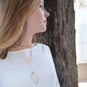 Maria Long Necklace Gold Ruthenium Lady