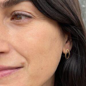 Maria M Earrings Gold Lady