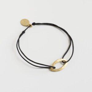 Maria M Nylon Bracelet Gold