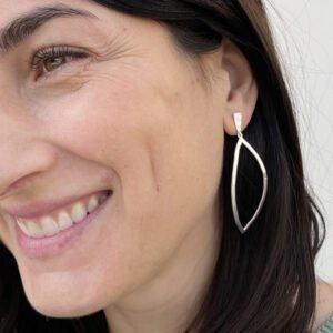 Maria XL pendant Earrings Silver Lady