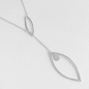 Maria long necklace silver
