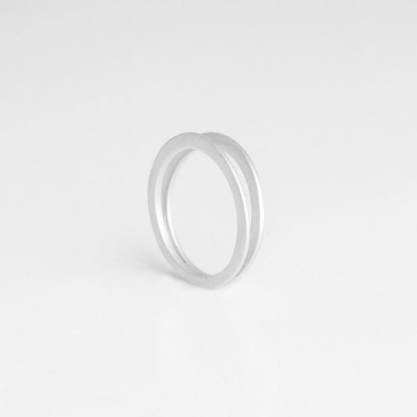 Mir Double Ring Silver