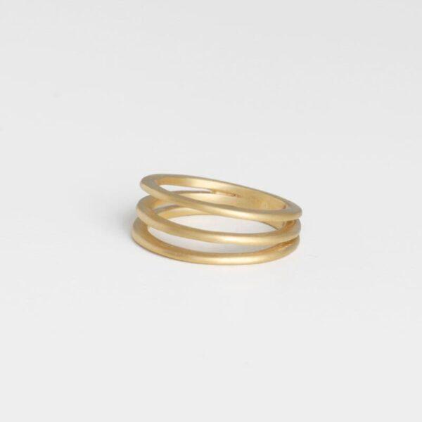 Mir Triple Ring Gold
