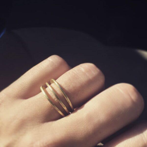 Mir Triple Ring Gold Lady