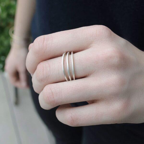 Mir Triple Ring Silver Lady