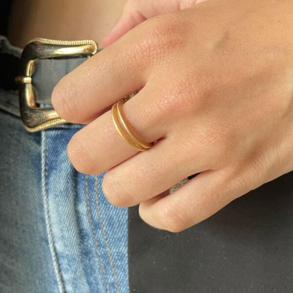 Mir double Ring Gold Lady