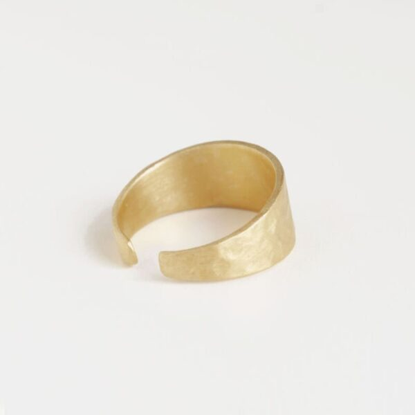 Moon M Open Ring Gold