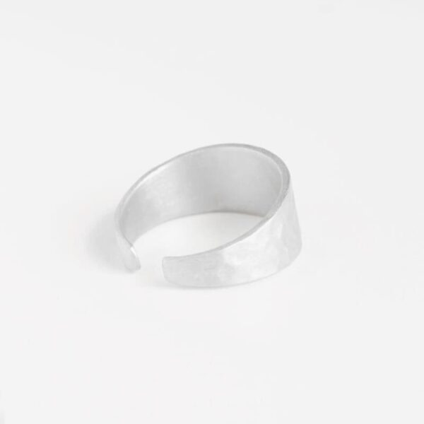 Moon M Open Ring Silver