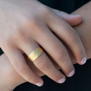 Moon M Ring Gold Lady