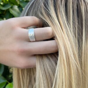 Moon M Ring Silver Lady