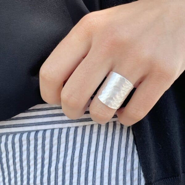 Moon Open Ring Silver