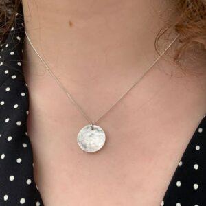 Moon Pendant Silver Lady