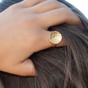 Moon Ring Gold Lady