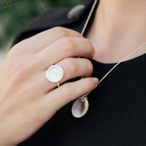 Moon Ring Silver Lady