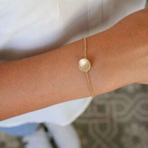 Moon S Bracelet gold lady