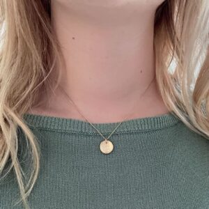 Moon S Pendant Gold Lady