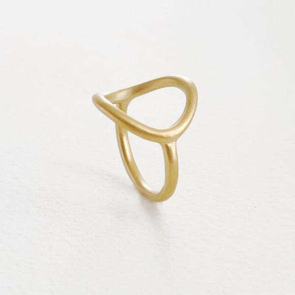Nicola Circle Ring Gold