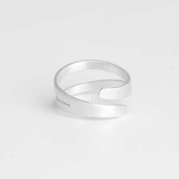 Nina Double Ring Silver