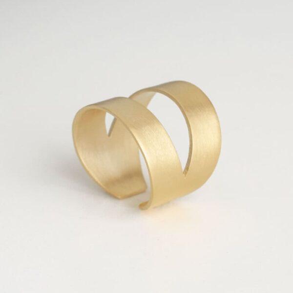 Nina two parts ring gold