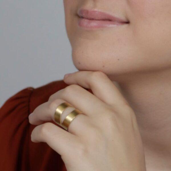 Nina two parts ring gold lady