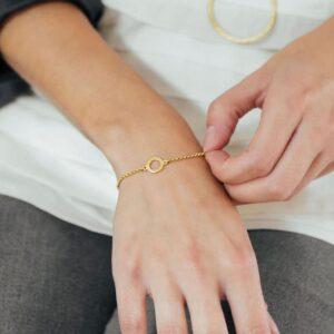 One Soul Circle Bracelet Gold Lady