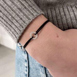 One Soul Nylon Circle Bracelet Silver Lady.