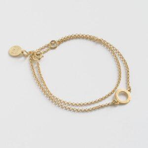 One Soul Circle Double Bracelet Gold