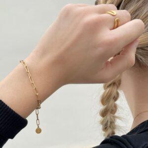 Rock and Soul Chain Bracelet Gold lady