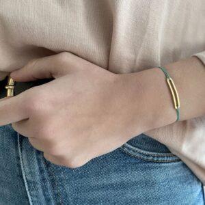 Rock and Soul M Nylon Bracelet Gold Lady