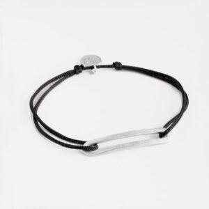 Rock and Soul M Nylon Bracelet Silver