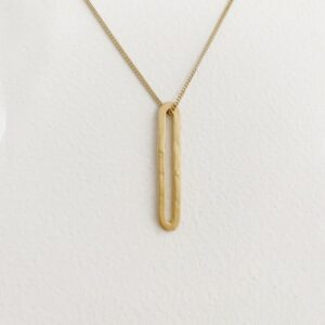 Rock and Soul M Pendant Gold