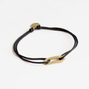 Rock and Soul S Nylon Bracelet Gold