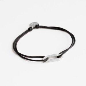 Rock and Soul S Nylon Bracelet Silver