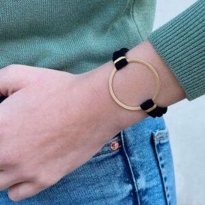 Sandra Circle Bracelet Gold Lady