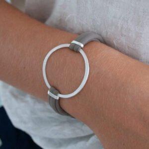 Sandra Circle Bracelet Silver Lady