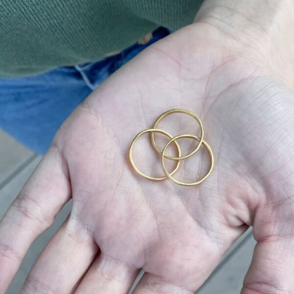Sophie 3Twin Ring Gold lady