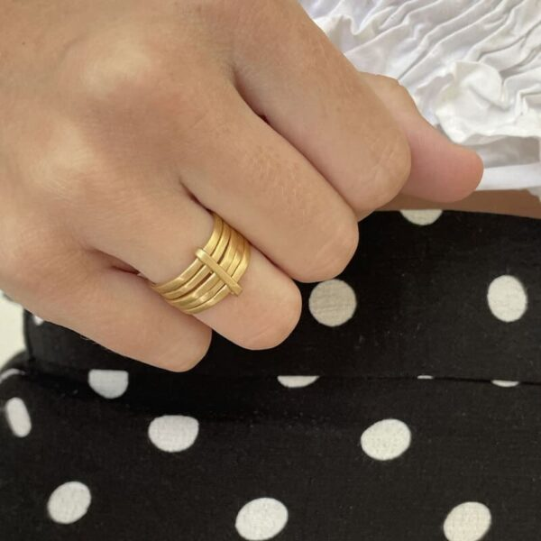 Sophie 5Mix Ring Gold lady