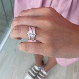 Sophie 5Mix Ring Silver lady