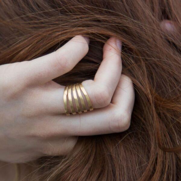 Sophie Fivefold Ring Gold Lady