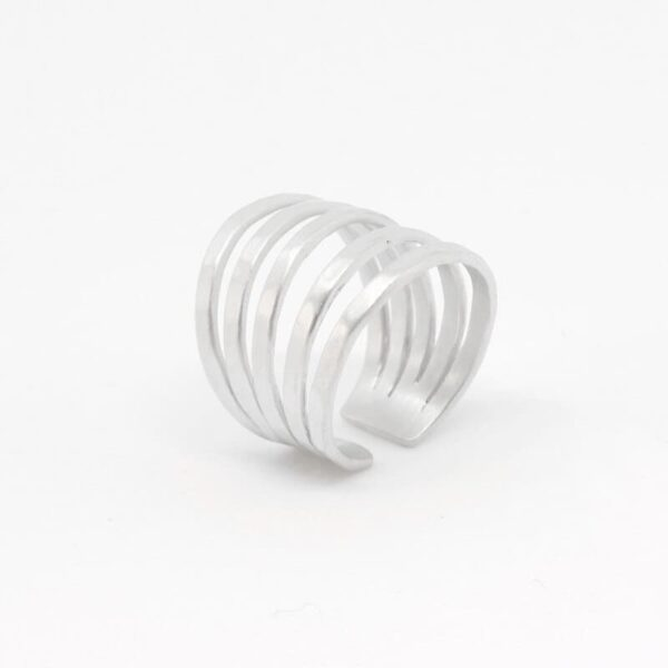 Sophie Fivefold Ring Silver