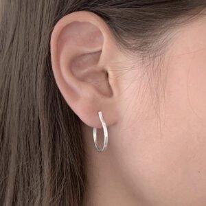 Sophie M Hoop Earrings Silver Lady