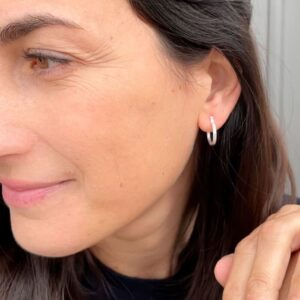 Sophie S Hoop Earrings Silver Lady