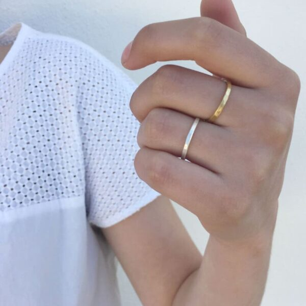 Sophie Simple Ring Silver Lady