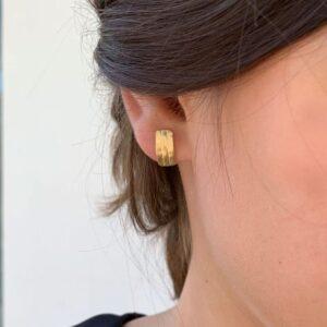 Sophie Triple M Earrings Gold Lady